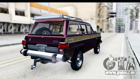 Jeep Grand Wagoneer für GTA San Andreas linke Ansicht
