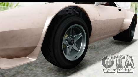 GTA 5 Lampadati Tropos SA Lights pour GTA San Andreas vue arrière