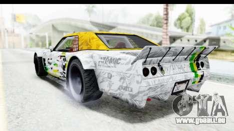 GTA 5 Declasse Drift Tampa pour GTA San Andreas vue de côté