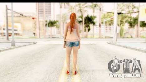 Dead Or Alive 5 - Kasumi Intimate pour GTA San Andreas troisième écran