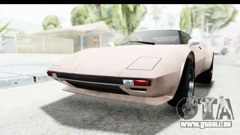 GTA 5 Lampadati Tropos SA Lights pour GTA San Andreas sur la vue arrière gauche
