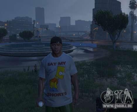 Bart Simpson T-Shirt for GTA V für GTA 5