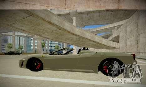 Ferrari F430 Spider pour GTA San Andreas laissé vue