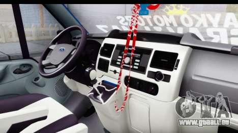 Ford Transit Air für GTA San Andreas Innenansicht