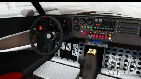 GTA 5 Lampadati Tropos SA Lights pour GTA San Andreas vue intérieure