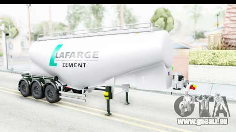 Trailer Zement pour GTA San Andreas vue de droite