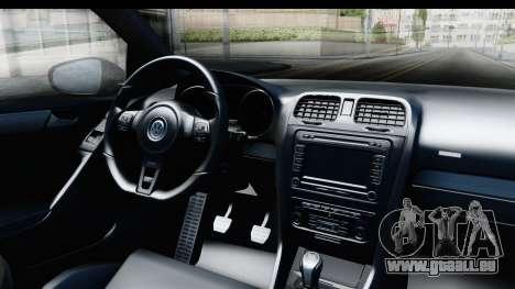 Volkswagen Golf R pour GTA San Andreas vue intérieure