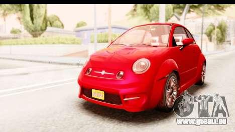 GTA 5 Grotti Brioso IVF pour GTA San Andreas sur la vue arrière gauche