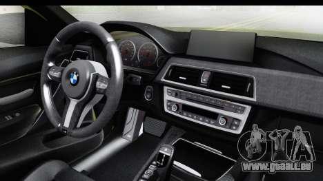 BMW M3 F30 Hulk für GTA San Andreas Innenansicht