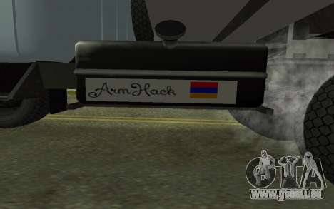 ZIL-130 Arménie pour GTA San Andreas vue de côté