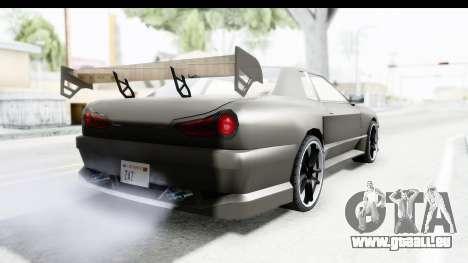Elegy Sport Type v1 pour GTA San Andreas vue de droite