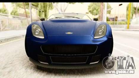 GTA 5 Dewbauchee Rapid GT pour GTA San Andreas vue intérieure