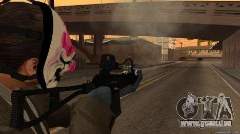 As-VAL Payday 2 pour GTA San Andreas troisième écran