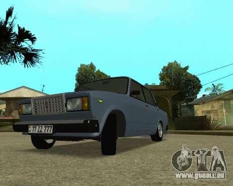 VAZ 2107 Armenian pour GTA San Andreas laissé vue