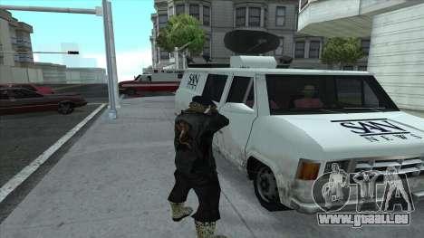 Newsvan Follow You pour GTA San Andreas quatrième écran