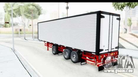 Trailer with Axle pour GTA San Andreas sur la vue arrière gauche