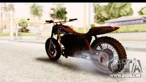 GTA 5 Western Cliffhanger Custom v2 pour GTA San Andreas sur la vue arrière gauche