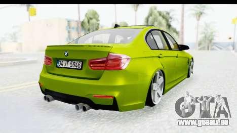 BMW M3 F30 Hulk für GTA San Andreas linke Ansicht