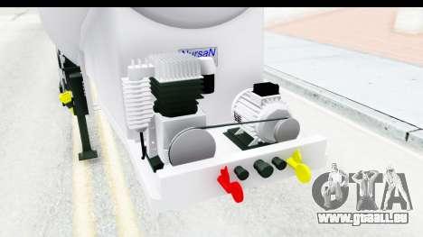 Trailer Zement pour GTA San Andreas vue intérieure