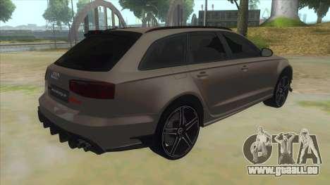 Audi RS6-R pour GTA San Andreas vue de droite