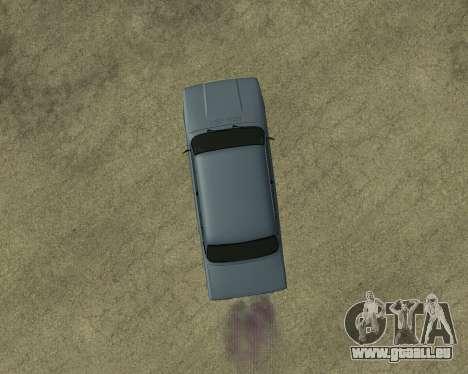 VAZ 2107 Armenian pour GTA San Andreas vue de dessus