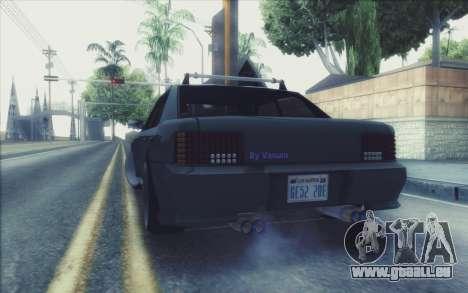 New Stance Sultan pour GTA San Andreas sur la vue arrière gauche