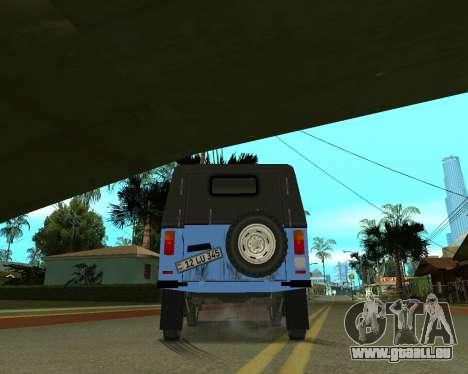 Luaz 969 Armenian pour GTA San Andreas vue de dessus