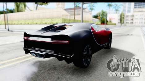 Bugatti Chiron 2017 v2 für GTA San Andreas zurück linke Ansicht