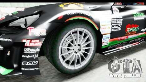 D1GP Toyota 86 2015 DRIVE für GTA San Andreas Rückansicht