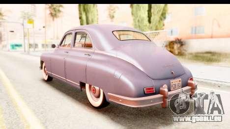 Packard Standart Eight 1948 Touring Sedan pour GTA San Andreas sur la vue arrière gauche