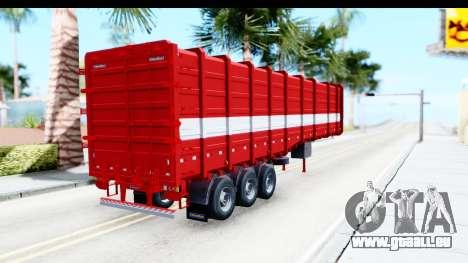 Trailer Cargo pour GTA San Andreas sur la vue arrière gauche