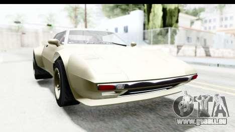 GTA 5 Lampadati Tropos Rallye IVF pour GTA San Andreas sur la vue arrière gauche