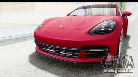 Porsche Panamera 4S 2017 v2 pour GTA San Andreas vue de côté