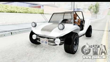 GTA 5 BF Bifta v2 SA Style pour GTA San Andreas vue arrière