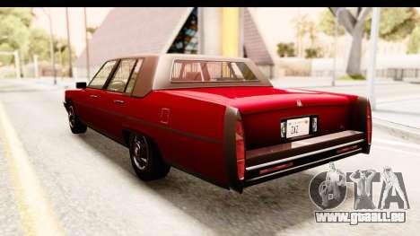 GTA 5 Albany Emperor IVF pour GTA San Andreas laissé vue
