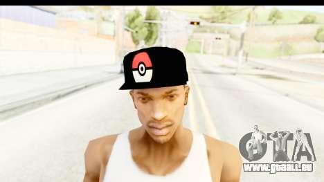 Cap Pokemon Pokeball pour GTA San Andreas troisième écran