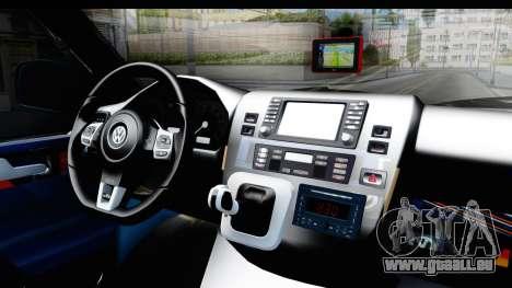 Volkswagen Caravelle pour GTA San Andreas vue intérieure
