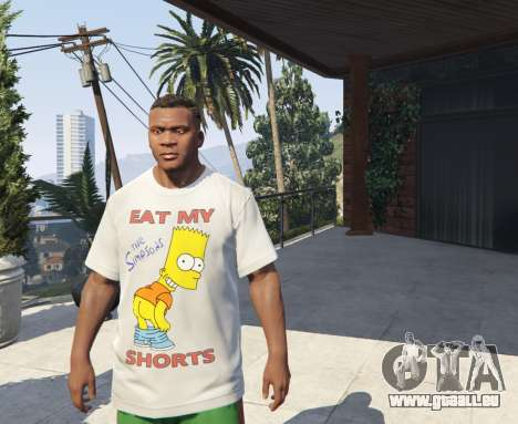 Bart Simpson T-Shirt for GTA V pour GTA 5
