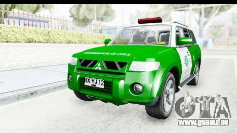 Mitsubishi Montero Carabiniers Section SIAT pour GTA San Andreas