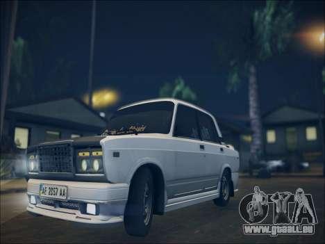 2107 Kolxz pour GTA San Andreas sur la vue arrière gauche