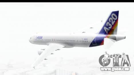 Airbus A320-200 Industrie MSN 1 1987 First Fligh für GTA San Andreas linke Ansicht