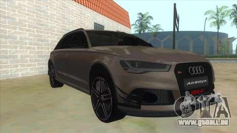 Audi RS6-R für GTA San Andreas Rückansicht