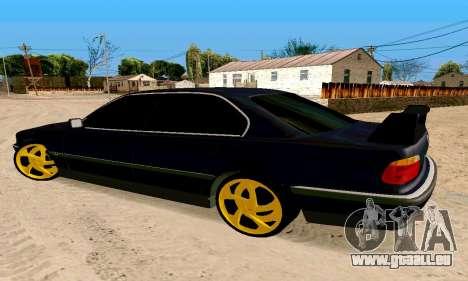 BMW 730 pour GTA San Andreas laissé vue