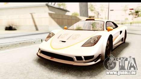 GTA 5 Progen Tyrus SA Style pour GTA San Andreas vue de dessous