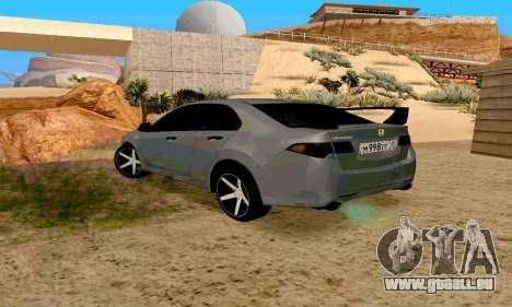 Honda Accord Type 2008 pour GTA San Andreas laissé vue