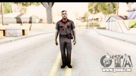 Left 4 Dead 2 - Zombie Policeman pour GTA San Andreas deuxième écran
