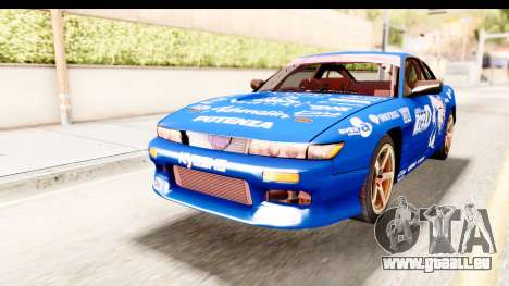 Nissan Sileighty 2015 D1GP für GTA San Andreas zurück linke Ansicht