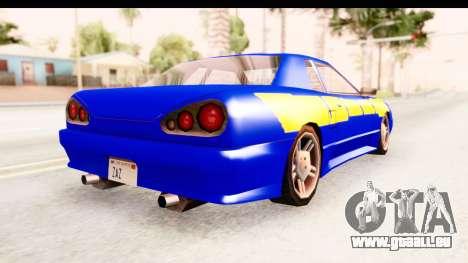 NFSU2 Tutorial Skyline Paintjob for Elegy pour GTA San Andreas vue de droite