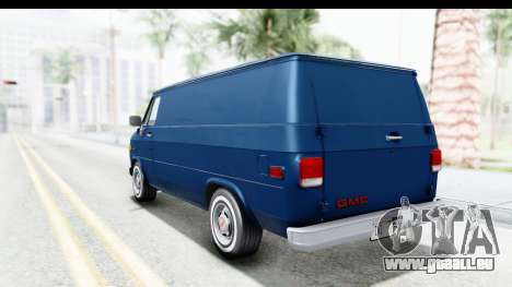 GMC Vandura 1985 White Stripes HQLM für GTA San Andreas linke Ansicht