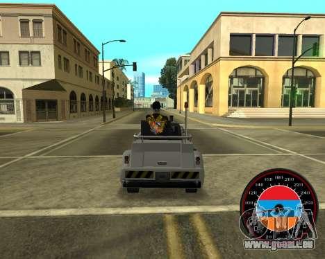 Der Tacho im Stil der Armenischen Flagge V 2.0 für GTA San Andreas